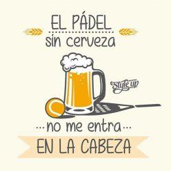Con el buen tiempo… Padel y cervecita.